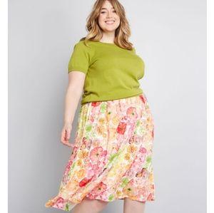 Modcloth Match Made Midi Skirt   Heirloom